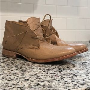 Distressed Frye Ankle Boots